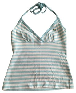 Lacoste White, light green Halter Top