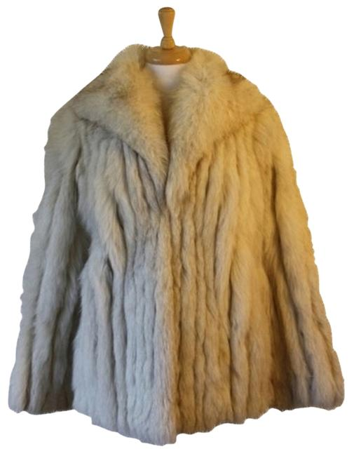 Saga Furs Real Blue Fox Fur Coat