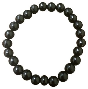 Other 5 mm Black Beaded Elastic Band Bracelet Unisex