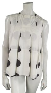 Marni Polka Dot Pleated Top White