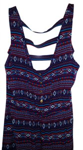 Forever 21 short dress Navy Blue, Red, Multi Aztec Striped Cut-out on Tradesy