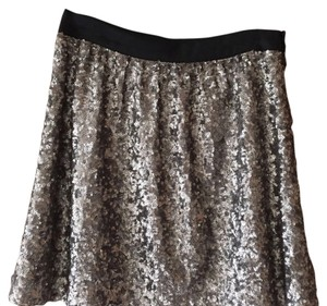 Broadway & Broome Mini Skirt silver