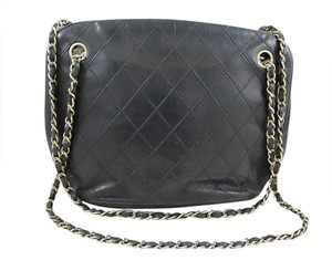 Chanel Quilted Leather Tote Shoulder Bag