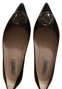 L.K. Bennett Made In Spain Patent Leather Black Flats