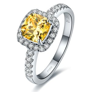 3ct Vvs1 Yellow Lab Cushion Square Cut All Sizes In Stock 4.5 5 6 7 8 Engagement Band Cushion Man Pt950 Wedding