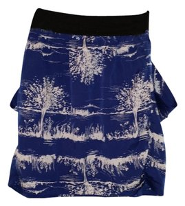 Forever 21 Skirt Navy Blue & White