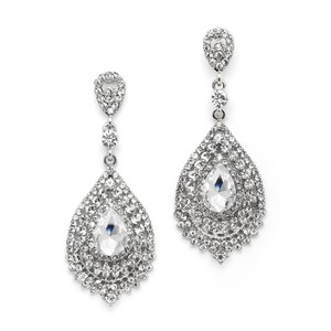 Mariell Dramatic Crystal Statement Earrings 4529e-cr-s