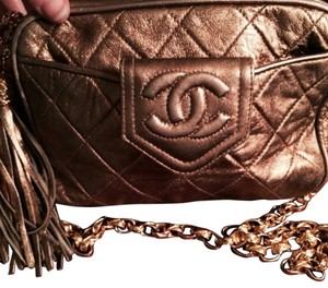 Chanel Shoulder Gold Leather Tote
