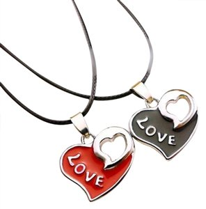 Unknown 2pc Matching Heart Love Necklace Set