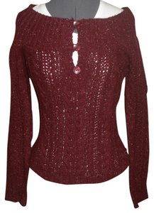 American Eagle Outfitters Long Sleeve Off The Cable Knit With 3 Button Accent Sweater