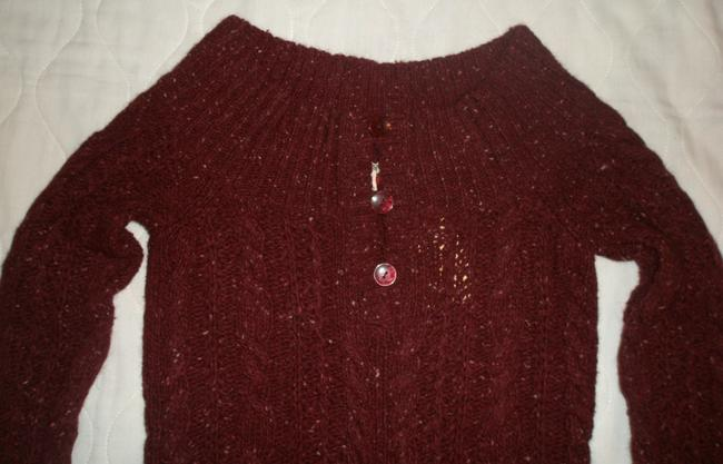 American Eagle Outfitters Long Sleeve Off The Shoulder Cable Knit With 3 Button Accent Sweater
