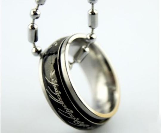 Other BOGO Free LOTR Black Steel Ring Pendant Necklace Free Shipping