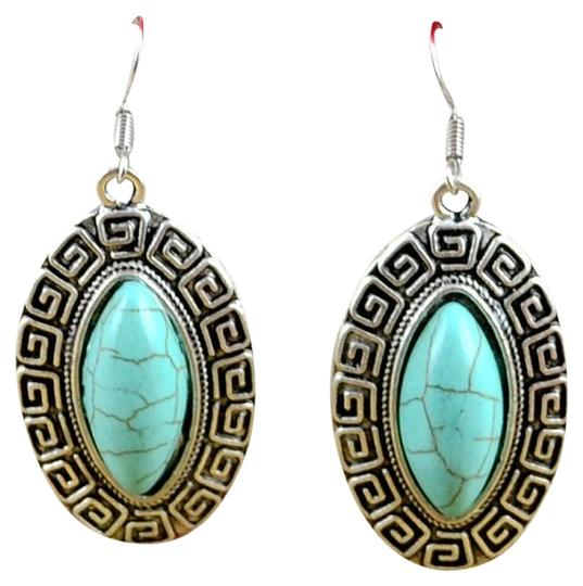 Unknown BOGO Free Tibet Silver Turquoise Dangle Earrings
