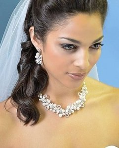 Ansonia Bridal Silver Freshwater Pearl Jewelry Set