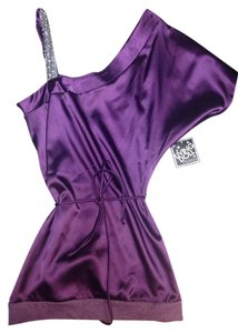 Living Doll Los Angeles Top Purple With Grey Accent.