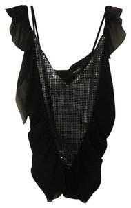 Express Sequin Club Evening With Tags Top Black