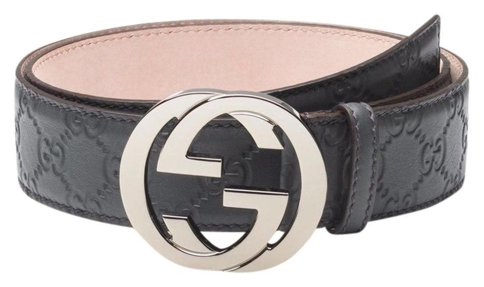 6ac8adad56a Gucci NEW Gucci Men s Guccissima Leather Belt With Interlocking G Buckle  110 44 Image 0 ...