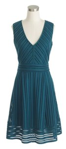 J.Crew short dress Tropical forest green Engagement Bridal on Tradesy