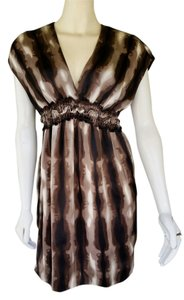 Max Studio short dress Brown Satin Silk on Tradesy