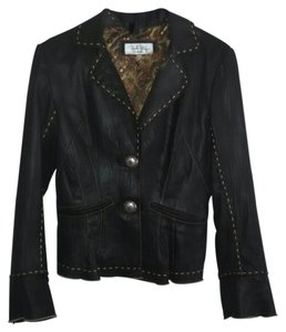Tasha Polizzi Black with brown stitching Jacket