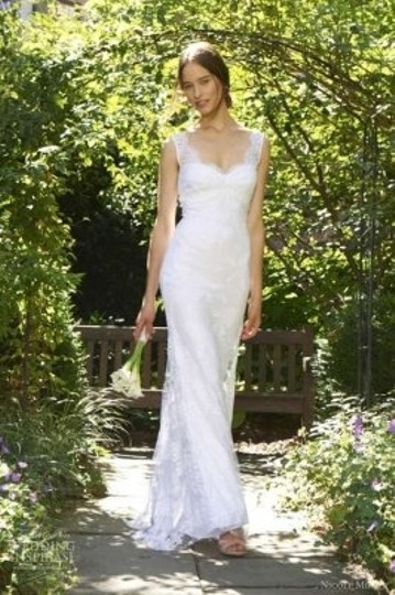 Nicole Miller Cream/White Jc001 Wedding Dress Size 6 (S)
