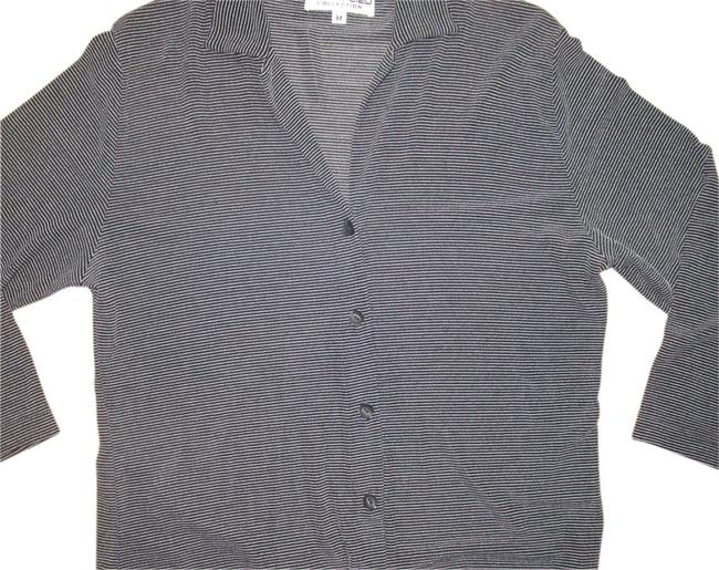 Item - Black & White Andria Lieu For Button-down Top Size 10 (M)