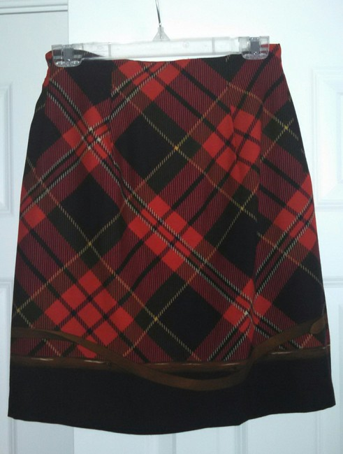Ralph Lauren Skirt Navy, red and green plaid