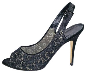 Manolo Blahnik Black Lace Sandals