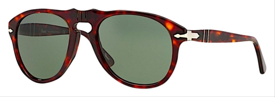 a36b842fc9 Persol PERSOL Steve Mcqueen Style Sunglasses PO 649 TORTOISE   PERSOL  CRYSTAL GREEN LENSES ...
