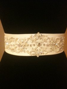 Custom-made Satin & Crystal Sash