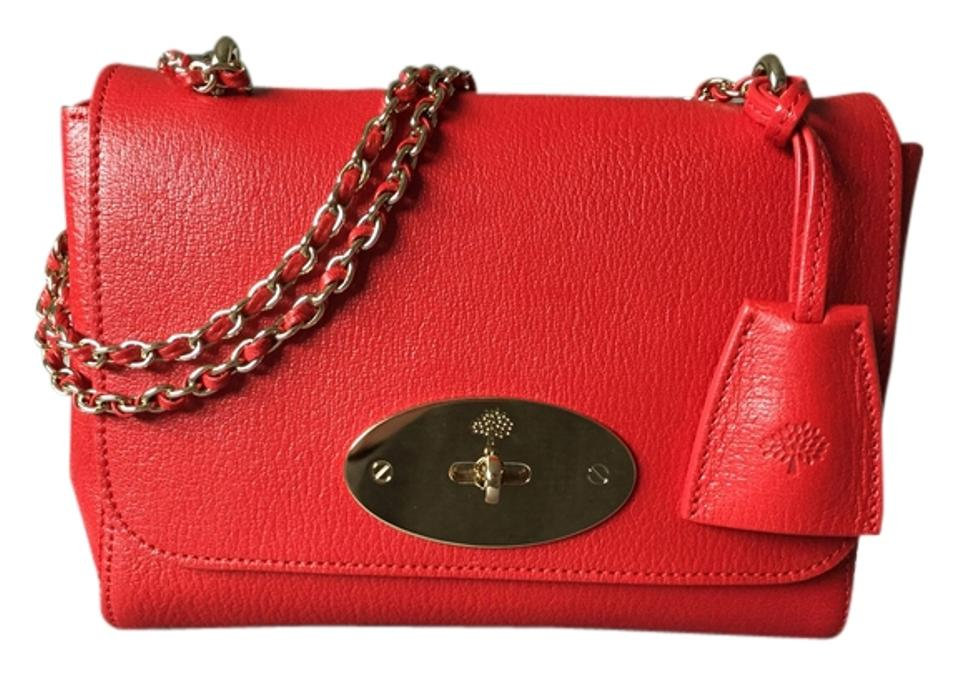 497dc295e0 Mulberry Lily Bright Red Goat Leather Shoulder Bag - Tradesy