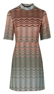Topshop short dress Multi Chevron Metallic on Tradesy