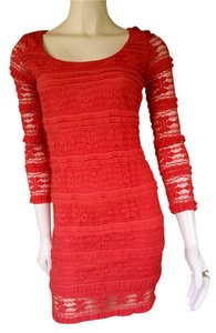 Max Studio Stretch Lace Bodycon Sexy Dress