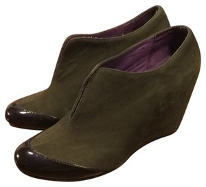 Farylrobin Suede Wedge Ankle Gray Boots