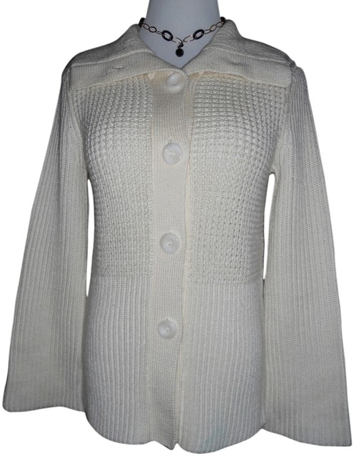 Item - Ivory / Off White High Quality Knitted Long Sleeve Blouse.mint Cond(Slightly Used)rn#79984 Tunic Size Petite 0 (XXS)