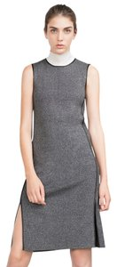 Zara short dress Gray Stretchy Knit on Tradesy