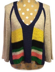 Plenty by Tracy Reese V-neck Striped Sweater