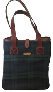 Ralph Lauren Plaid Leather Polo Tote