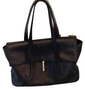 Elizabeth and James Leather Satchel in Black