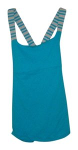 Lululemon Workout Top Aqua & white stripe