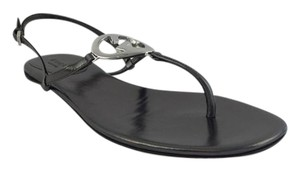 Gucci Metallic Dark Gray Sandals