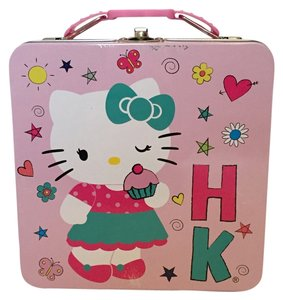 Hello Kitty Latching Tin Box with Handle