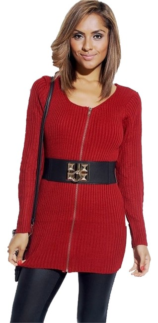 Preload https://img-static.tradesy.com/item/1341620/red-sweater-leggings-cozy-warm-tunic-size-6-s-0-0-650-650.jpg