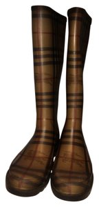 Burberry Brown Check Boots