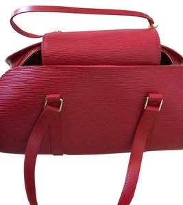 Louis Vuitton Epi Shoulder Epi Satchel in Red