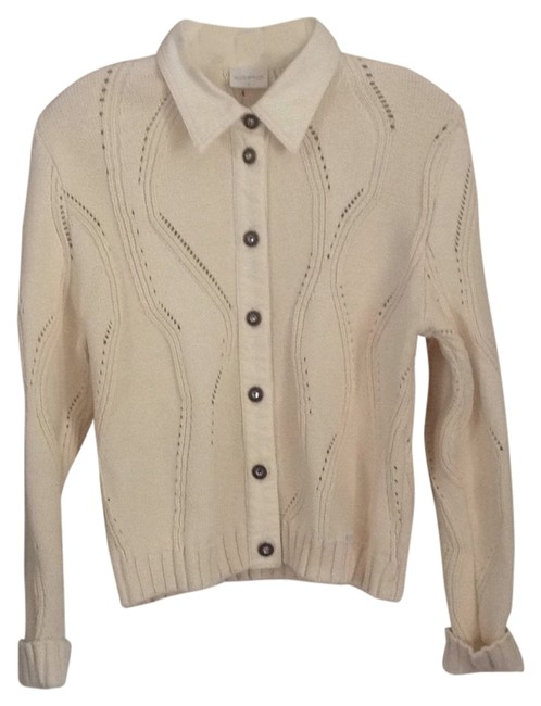 Item - Cream Cardigan Size 4 (S)