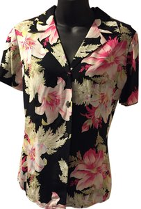 Jones New York Silk Top Floral