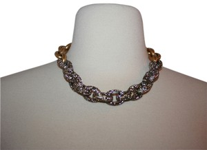J.Crew J.CREW MIXED PAVE LINK NECKLACE