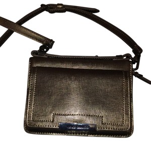 Vince Camuto Metallic Leather Cellphone Wallet Cross Body Bag
