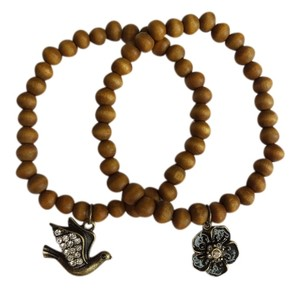 Other Wooden Beaded Bracelets with charms
